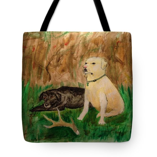 Onyx And Sarge Tote Bag