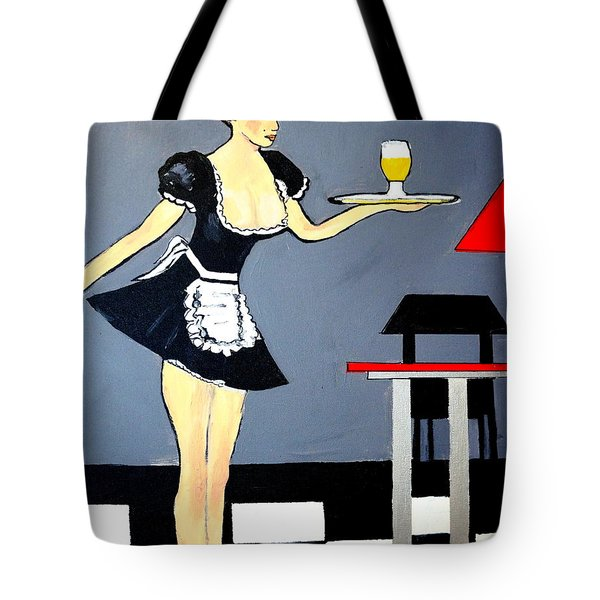 Tote Bag featuring the painting Ooolala French Maid  by Nora Shepley