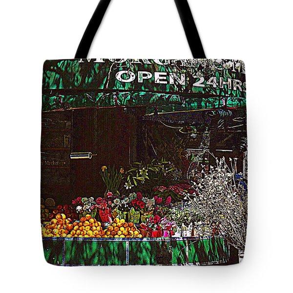 Open 24 Hours Tote Bag by Miriam Danar