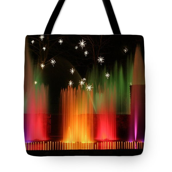 Open Air Theatre Rainbow Fountain Tote Bag by Living Color Photography Lorraine Lynch
