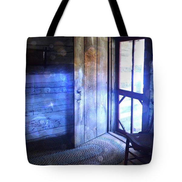 Open Cabin Door With Orbs Tote Bag by Jill Battaglia