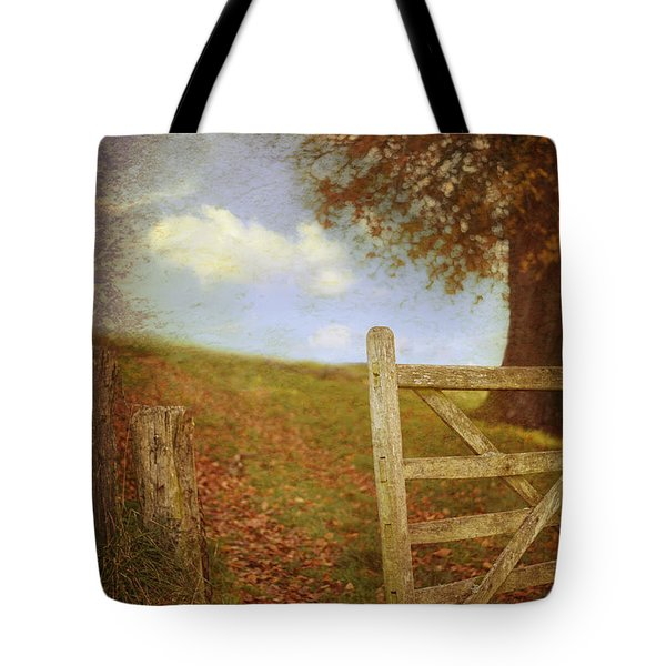 Open Country Gate Tote Bag by Amanda Elwell