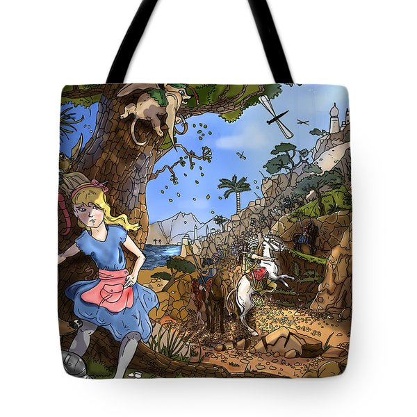 Tote Bag featuring the painting Open Sesame by Reynold Jay