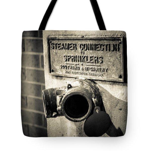 Open Sprinkler Tote Bag by Melinda Ledsome