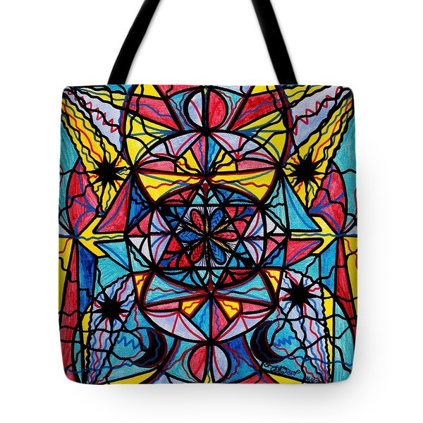 Open To The Joy Of Being Here Tote Bag by Teal Eye  Print Store