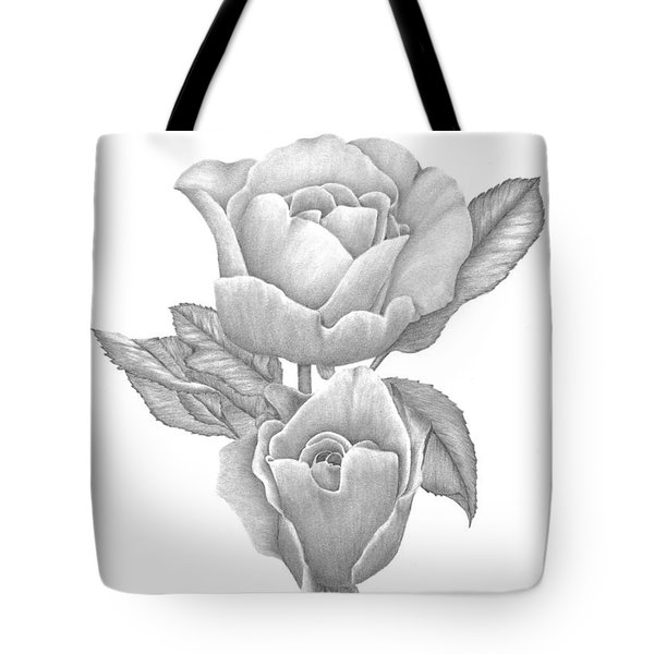 Tote Bag featuring the drawing Opening Blooms by Patricia Hiltz
