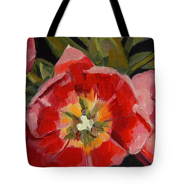 Tote Bag featuring the painting Opening by Pattie Wall