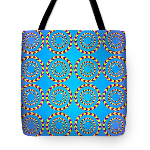 Optical Illusion Spinning Wheels Tote Bag