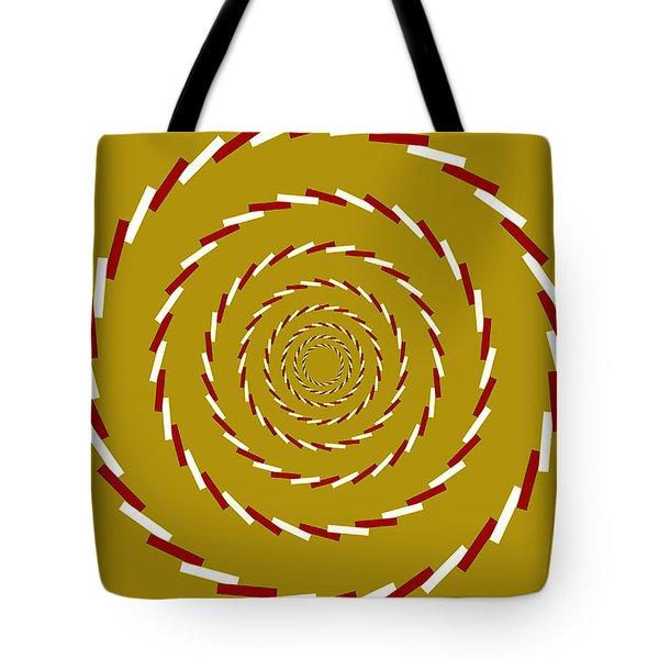 Optical Illusion Whirlpool Tote Bag