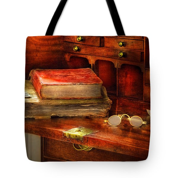 Optometrist - Glasses - The Secretary Tote Bag by Mike Savad