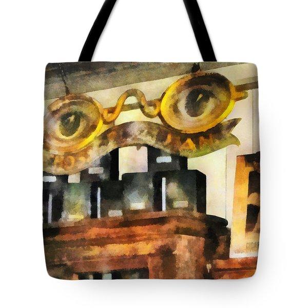 Optometrist - Spectacles Shop Tote Bag by Susan Savad