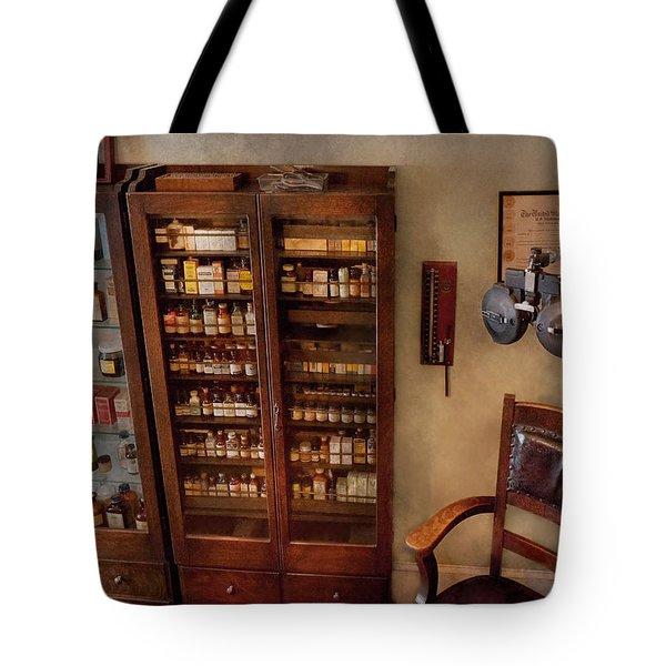 Optometrist - The Optometrists Office Tote Bag by Mike Savad