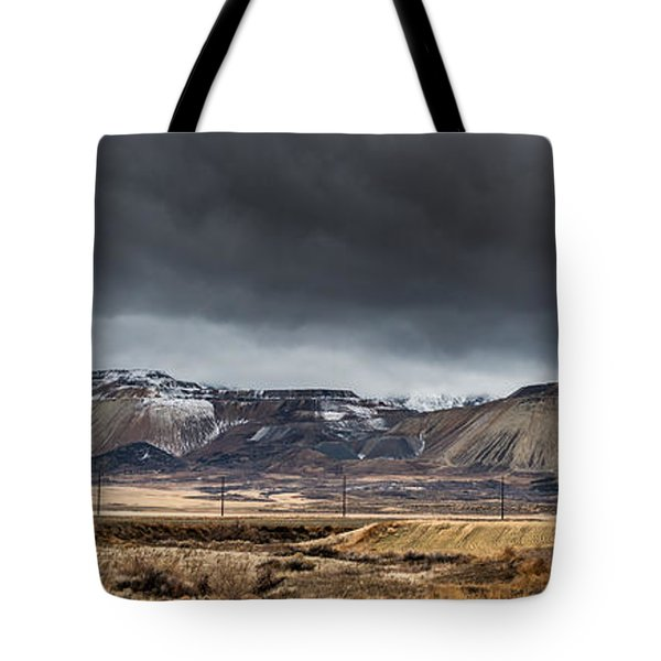 Oquirrh Mountains Winter Storm Panorama 2 - Utah Tote Bag