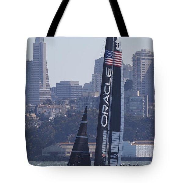 Oracle Team Usa America's Cup San Francisco Bay Tote Bag