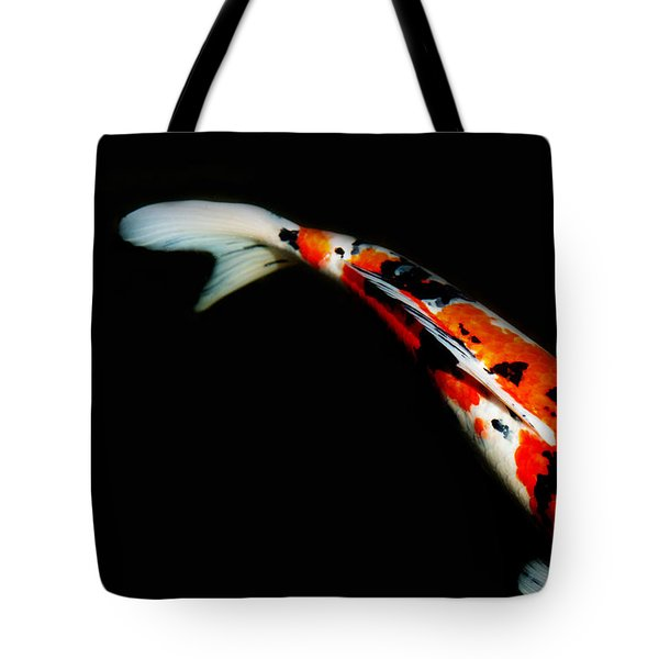 Orange And Black Koi Tote Bag