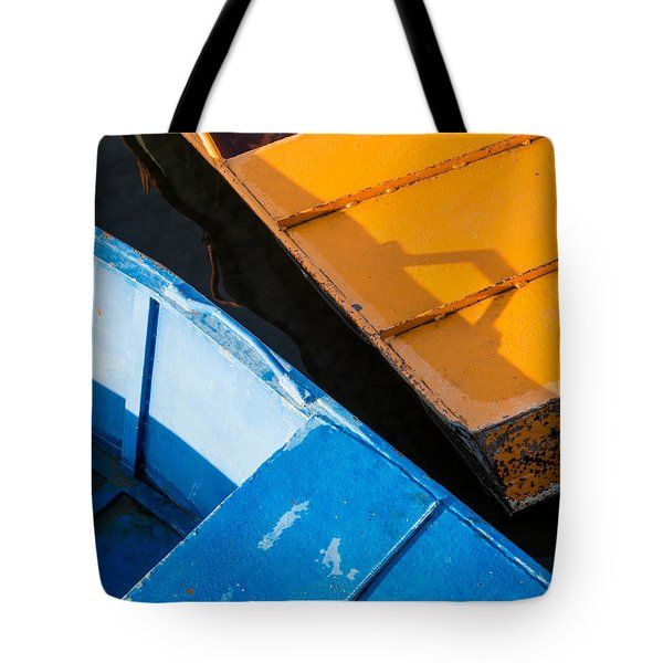 Orange And Blue Tote Bag by Davorin Mance