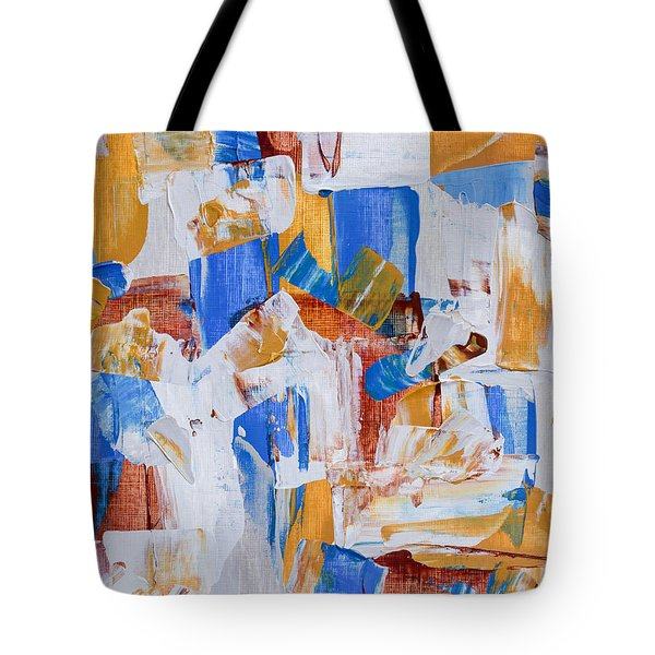 Tote Bag featuring the painting Orange And Blue by Heidi Smith