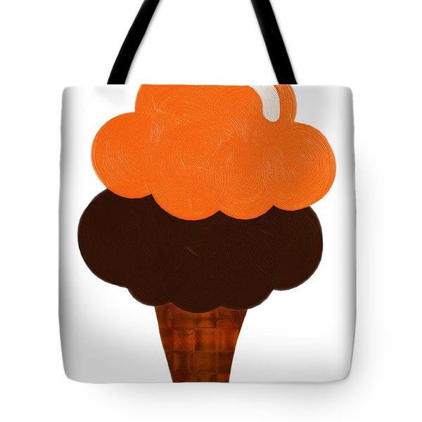 Orange And Chocolate Ice Cream Tote Bag
