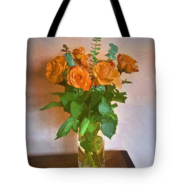Tote Bag featuring the photograph Orange And Green by John Hansen