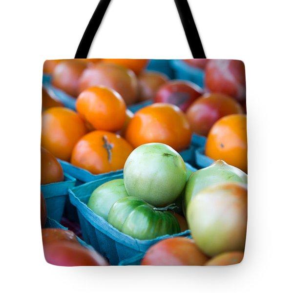 Orange And Green Tomatoes Tote Bag