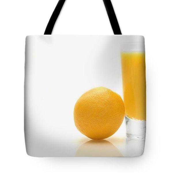 Orange And Orange Juice Tote Bag by Darren Greenwood