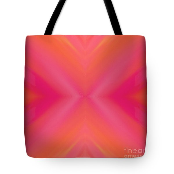 Orange And Raspberry Sorbet Abstract 7 Tote Bag by Andee Design