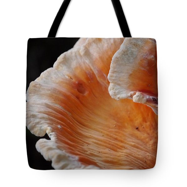 Orange And White Fungi Tote Bag