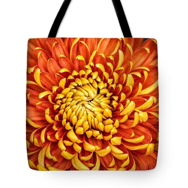 Orange And Yellow Mum Tote Bag