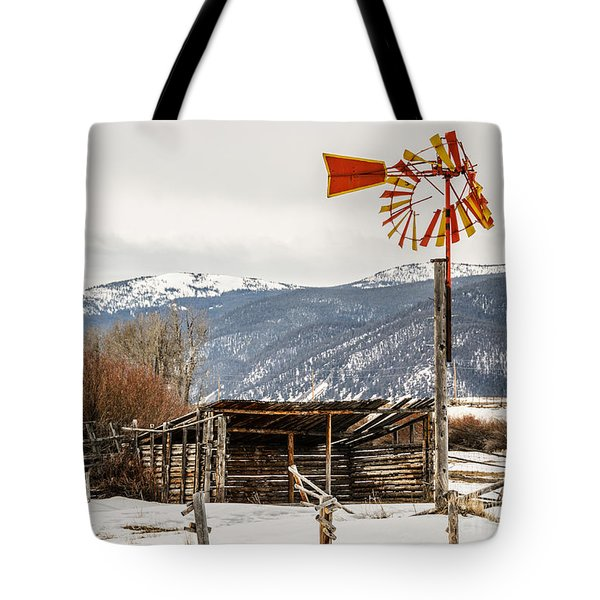 Orange And Yellow Windmill Tote Bag