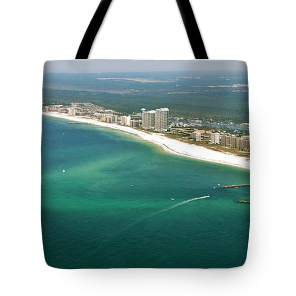 Tote Bag featuring the photograph Looking N W Across Perdio Pass To Gulf Shores by Gulf Coast Aerials
