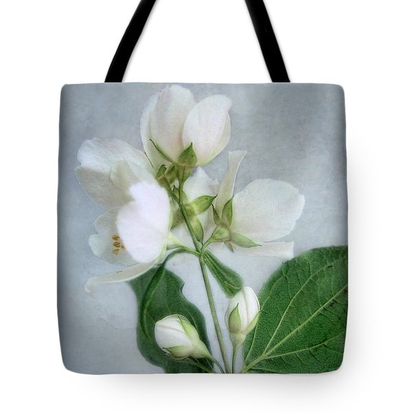 Orange Blossom Time Tote Bag by Louise Kumpf