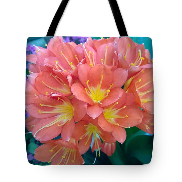 Orange Bouquet Tote Bag by Claudia Goodell