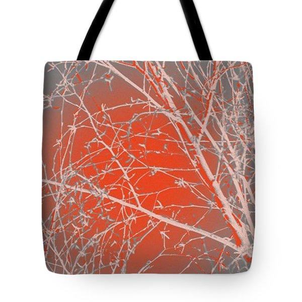 Orange Branches Tote Bag by Carol Lynch