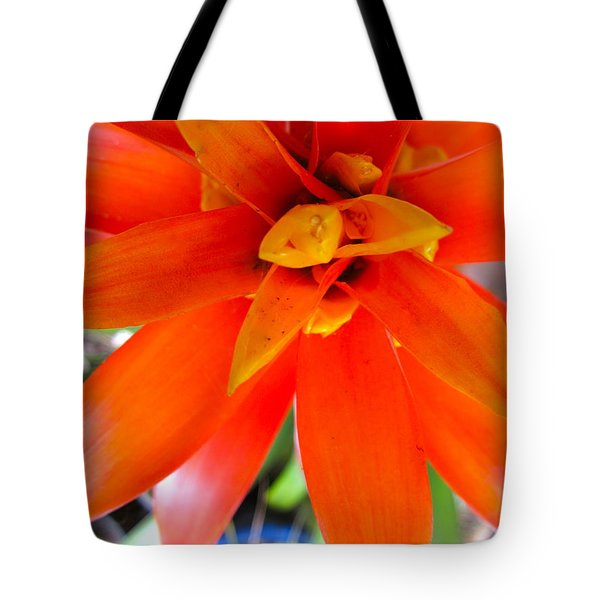 Orange Bromeliad Tote Bag by Lehua Pekelo-Stearns