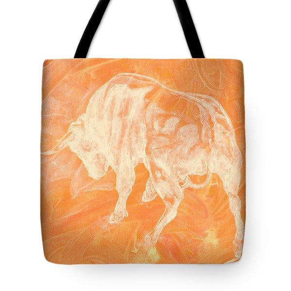 Orange Bull Negative Tote Bag