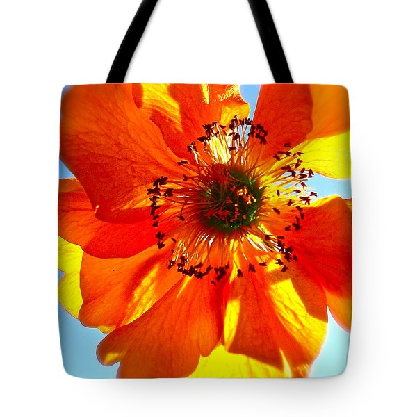 Orange Burst Tote Bag