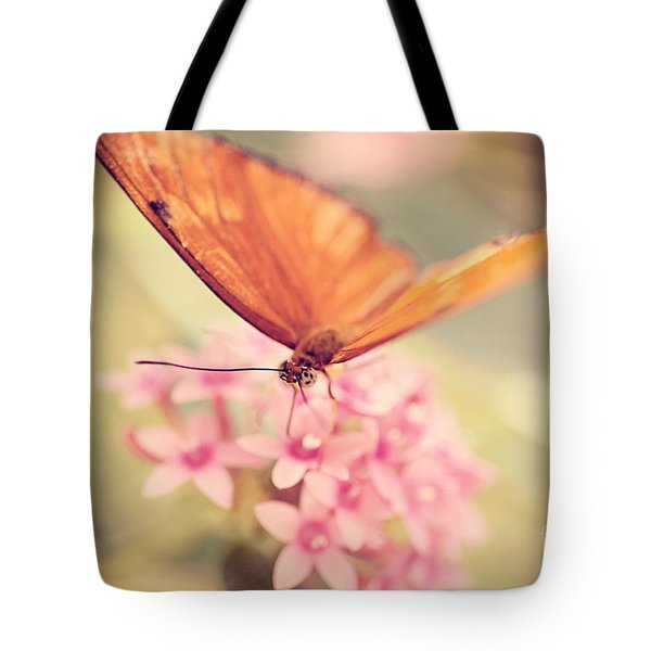 Orange Butterfly Tote Bag by Erin Johnson