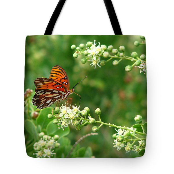 Tote Bag featuring the photograph Orange Butterfly by Marcia Socolik