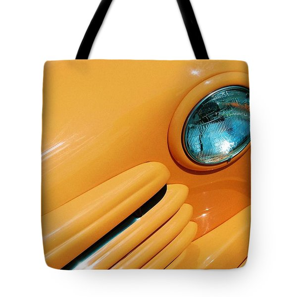 Orange Car Tote Bag