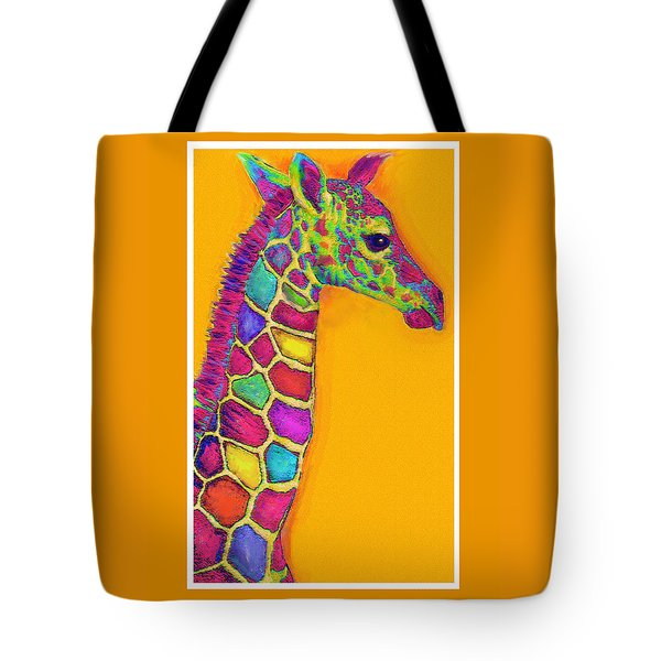 Orange Carosel Giraffe Tote Bag