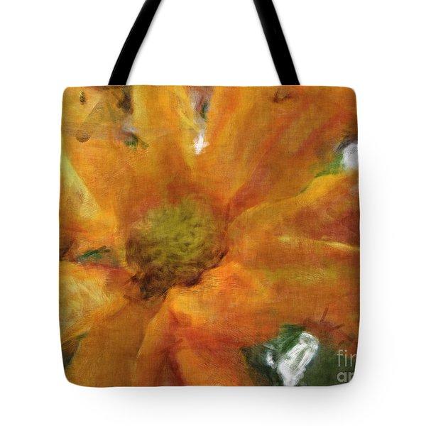 Orange Chrysanthemem Photoart Tote Bag