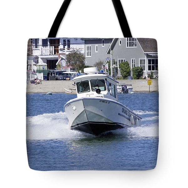 Orange County Sheriffs At Work Tote Bag by Shoal Hollingsworth