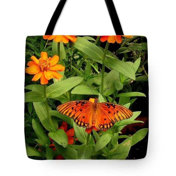 Orange Creatures Tote Bag
