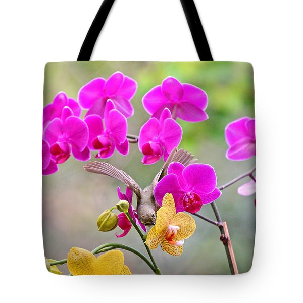 Warbler On Orchards Photo Tote Bag