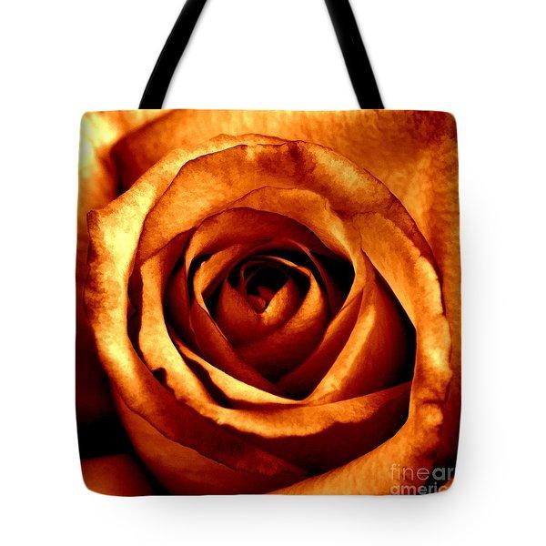 Orange Crush Tote Bag by Peggy Hughes
