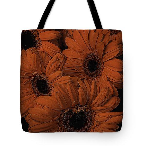 Orange Daisy Bouquet Tote Bag