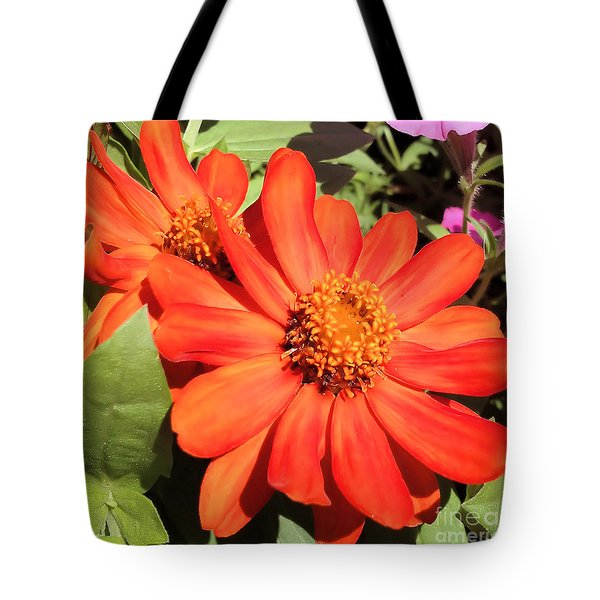 Tote Bag featuring the photograph Orange Daisy In Summer by Luther Fine Art