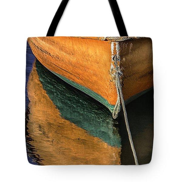 Orange Dinghy In Warm Sun Tote Bag
