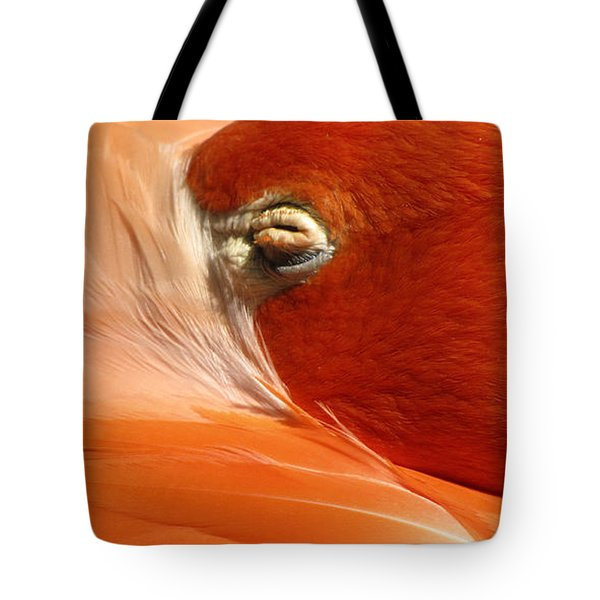 Flamingo Orange Eye Tote Bag