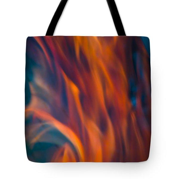 Orange Fire Tote Bag